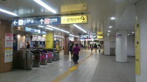 都営浅草線東銀座駅3番出口改札前